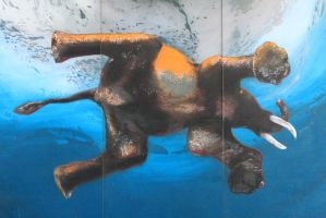 The swimming elephant by utico
