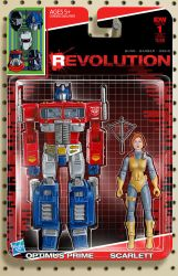 IDW Revolution Optimus Prime Scarlett toy cover #1 by AdamRiches