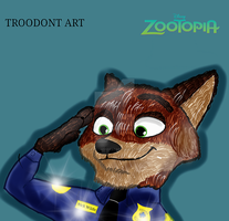 Nick wilde Police officer  (special 243 watchers ) by SarahTheFox97