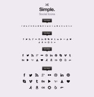 Free Simple Social Icons vol1 by Pixeden