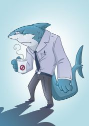Shark Guy Being Normal by Twinerism
