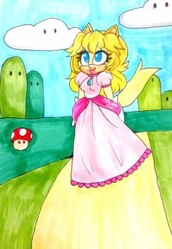 Peach in sonic style by NicoleDoodlesjunk