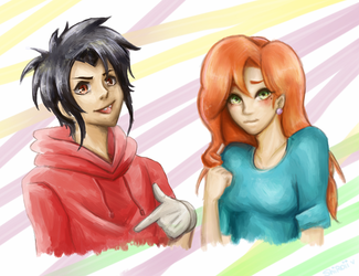 Max and Roxanne - A Goofy Movie - by KiraiRei