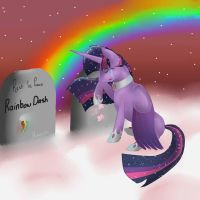 Rest In Peace, Friends. Visiting Cloudsdale by SynthieRose