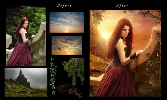 A Beautiful Evening Before After  by ektapinki