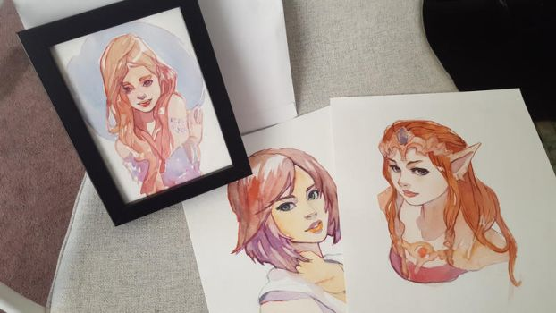 Watercolor paintings by taho