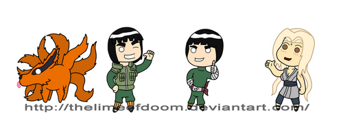 More Naruto chibis by thelimeofdoom