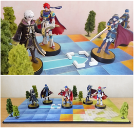 Fire Emblem amiibo display stand diorama by NBros