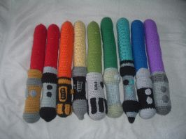 Crochet Lightsaber Rainbow COMPLETED!!!! by NanetteCrochet