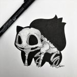 Skeletal Bulbasaur Updated! by WolfJayden