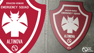 Dragon-Human Emergency Squad badge by RandomVanGloboii