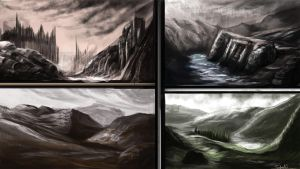 Landscape study/sketches 1 by FelFortune
