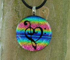 Music Love Rainbow Glass by FusedElegance