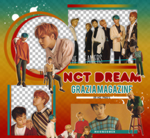 NCT DREAM// GRAZIA MAGAZINE-PNGPACK#1 by MoonSober