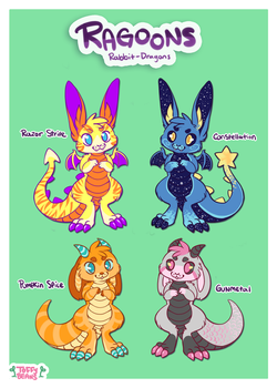 RAGOONS - Adopt Batch 1 (SOLD) by sproutlets