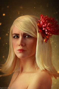 The Witcher - Flower portraits - Keira by MilliganVick