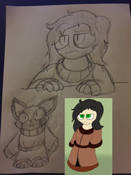 Enya doodles by Psychopathicfox by neverb4
