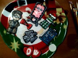 Doctor Who Christmas Cookies by The-TraveIing-Itch
