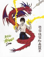 Bruce Lee Dragon by JesseAllshouse