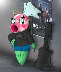 Pep and her new guitar [Gift] by ZeonSniper