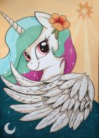 Until the Sun - Princess Celestia MLP by yellowrobin