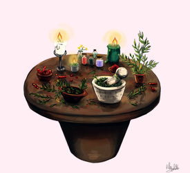 Day 5 - Witchcraft Tool by iNhyx
