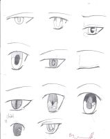 Anime eyes 2!! by TheAwesomeness0330