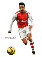 Alexis Sanchez render by MorBarda