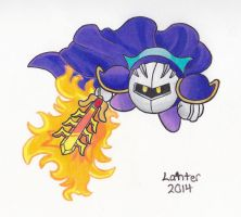 Meta Knight + Flaming Sword by Isuckworse