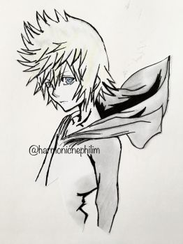 Roxas by kirstenmarquisart