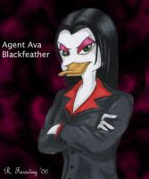 Agent Ava Blackfeather by bloodyban