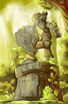 IOP Statue - Hispanic Shield Card DOFUS by studiobit
