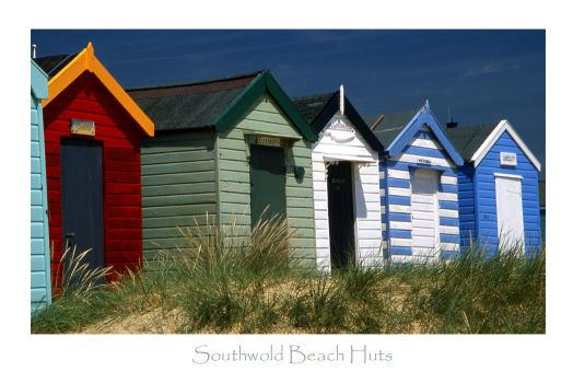 SOUTHWOLD BEACH HUTS by ScarredWolfphoto