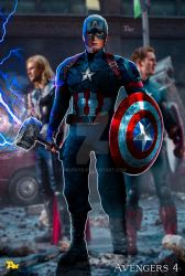 Poster: Captain America back in time | Avengers 4 by 4n4rkyX