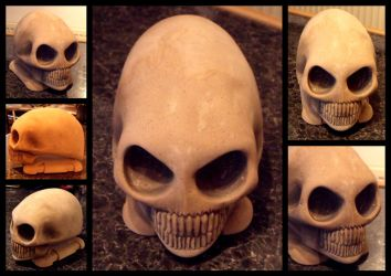 Hand Carved ALIEN SKULL by STEPHENSTON3