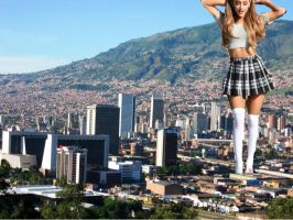 Giantess Ariana Grande by cheeselover100