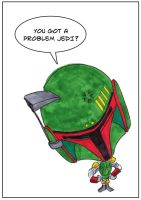 Boba Fett cartoon style by mentaldiversions