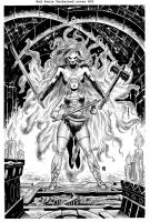 Red Sonja unchained 02 pencils by wgpencil