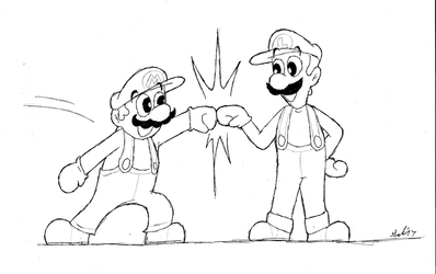 Super Mario Brofist! by DrFurball