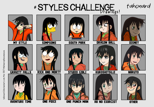 #Style Challenge Drawings ! by tahonard