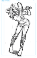 Harley Quinn Commission WIP by DRMoore
