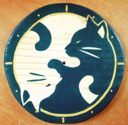 homemade clock by BH-Stables