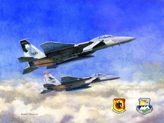 F-15C's of the Oregon Air National Guard by DouglasCastleman