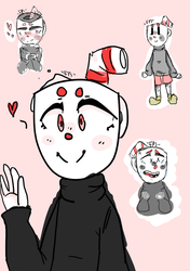 Cuphead Sketches by FizzyPopSodas