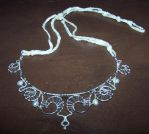 Silver pearl Necklace by Ysayde