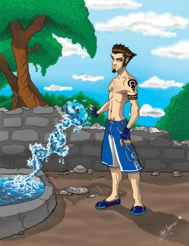the sexy water bender by phill28