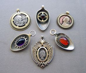Clockpunk pendants 14 by Astalo