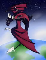 Cynder's High Flight by IcePhoenix202