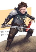 C: Gordie, Halfling Fighter Rogue by bchart
