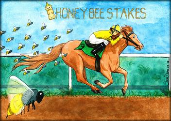 Honeybee Stakes Illustration by Marimaru